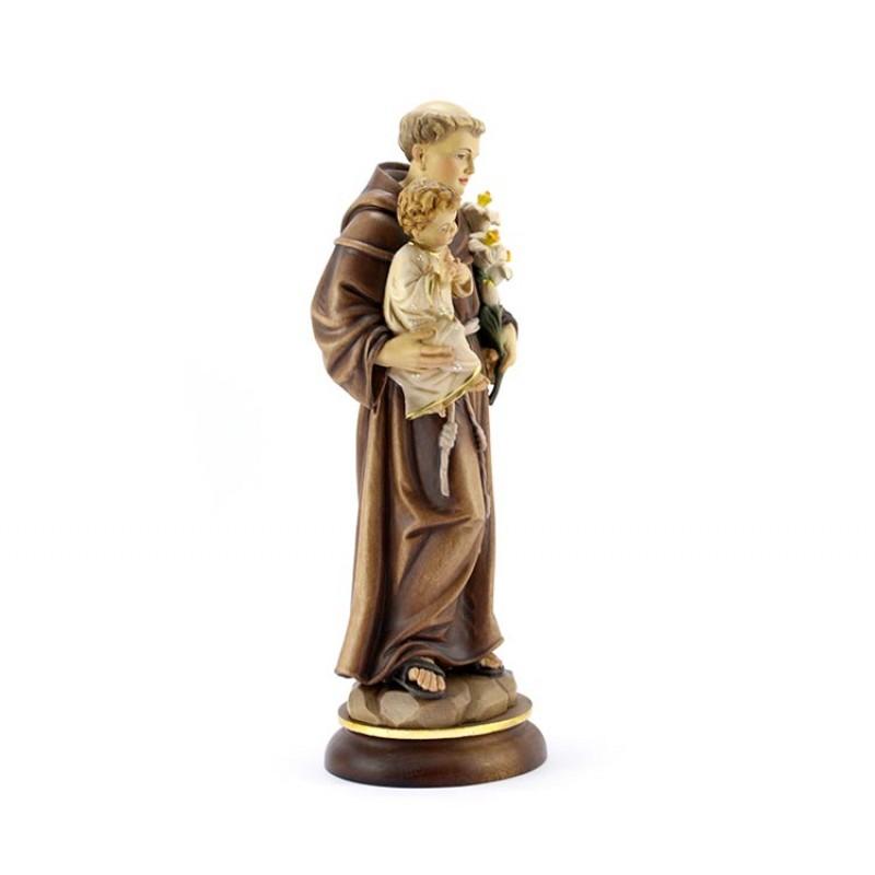 Statua Sant Antonio Di Padova In Legno 32 Cm