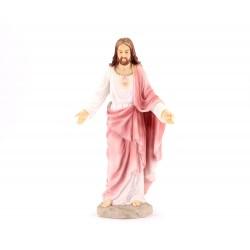 Statua Sacro Cuore di Gesù resina colorata 20 cm