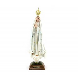 Statua Madonna di Fatima plastica 35 cm