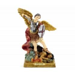 Statua San Michele Arcangelo resina dipinta 22 cm