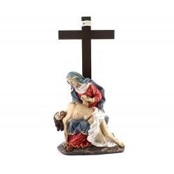 Statua della Pietà in resina colorata 50 cm