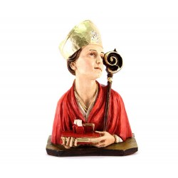 Busto San Gennaro in resina colorata 18 cm