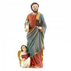 Statua San Matteo Evangelista in Resina 20 cm