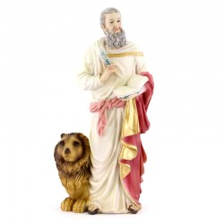 Statua San Marco Evangelista in Resina 20 cm