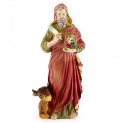 Statua San Luca Evangelista in Resina 20 cm