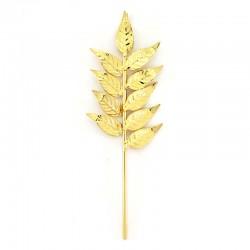 Palma per statua in ottone dorato 15 cm