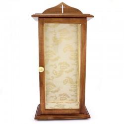 Teca per statua in legno e vetro 36x74x21,5 cm