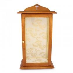 Teca in legno e vetro per statua 35,5x64x21 cm