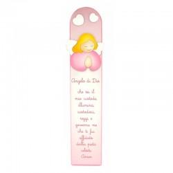 Pala rosa preghiera Angelo di Dio 12x60 cm