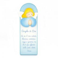 Pala celeste preghiera Angelo di Dio 10x29 cm