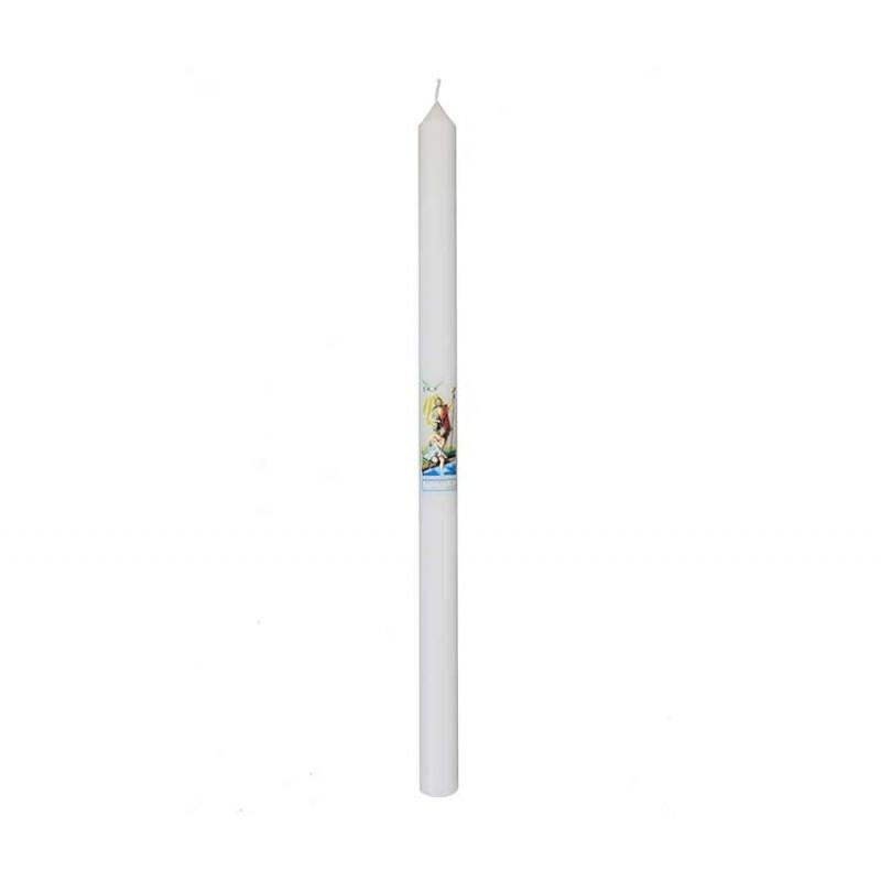 candela battesimo in cera 26 cm 40 grammi. Black Bedroom Furniture Sets. Home Design Ideas