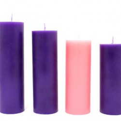 Advent Wreath Candles diameter 6 cm Italian Wax