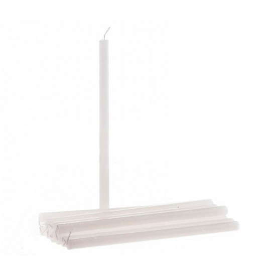White Wax Bobeche Candle 26 cm