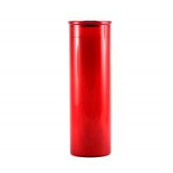 Cerone liturgico plastica rossa 22 cm Diam 7 cm