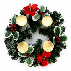 Advent Wreath with berries diameter 40 cm