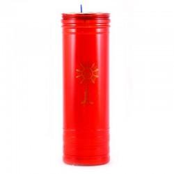 Cerone liturgico plastica rossa 22x7 cm