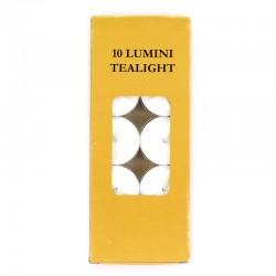 Lumini cera in alluminio Diametro 3,8 cm (Confezione 10 pz)