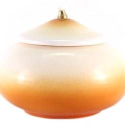 Yellow Terracotta Lamp diameter 15 cm