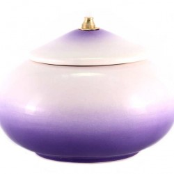 Violet Terracotta Lamp diameter 15 cm