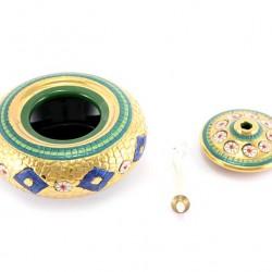 Ceramic Oil Lamp Byzantine style 8 cm diameter 12 cm