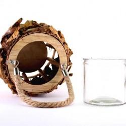 Natural Bark Lamp 13 cm
