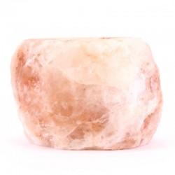 Portalumino di sale dell'Himalaya 12x8 cm