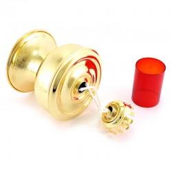Golden Brass Liquid Wax Lamp 13x18 cm