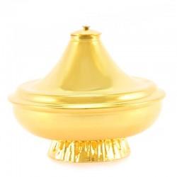 Lucerna in ottone dorato a cera liquida 12x12 cm