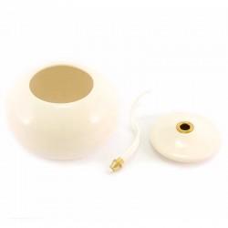White Terracotta Lamp Diameter 11 cm