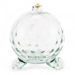 Lampada sfera vetro bianco per cera liquida 12x14 cm