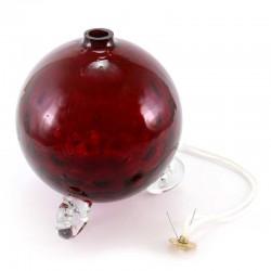 Red Glass Liquid Wax Sphere Lamp 12x14 cm