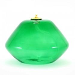 Lampada vetro verde a cera liquida 14x10 cm