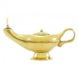 Lampada di Aladino in metallo dorato 20 cm