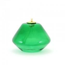Lampada vetro verde a cera liquida 10x7 cm