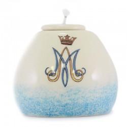Lucerna Mariana in ceramica colorata 8,5x7,5 cm