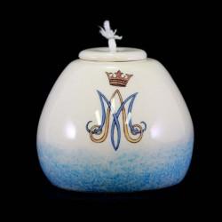 Marian lamp in colored ceramic 8,5 x 7,5 cm