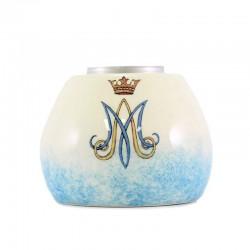 Lucerna Mariana porta lumino in ceramica colorata 8,5x6,5 cm