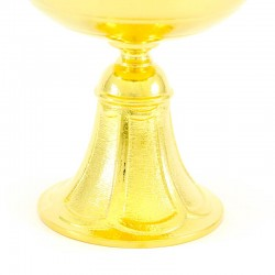 Golden brass lamp with transparent glass 21 cm Diameter 14 cm
