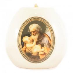Lucerna San Giuseppe in ceramica colorata 17x17 cm