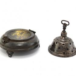 Bronzed Incense Burner Bell shaped 9.5 cm diameter 8 cm