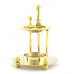 Adjustable Round Metal Incense Burner 11.5 cm