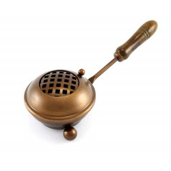 Bruciaincenso bronzato con manico Altezza 6 cm Diametro 8 cm