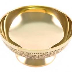 Incense Burner Bowl Golden Decorations Diameter 13 cm