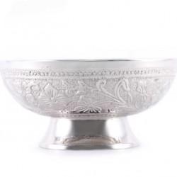 Incense Burner Bowl Silvery Decorations Diameter 13 cm