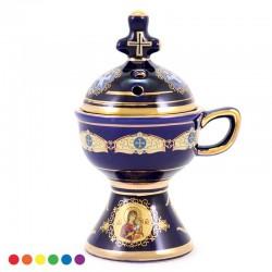 Bruciaincenso in ceramica stile ortodosso 15 cm