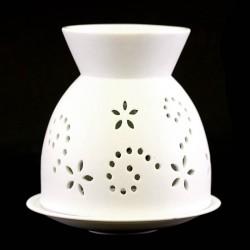 Oil burner in white perforated ceramic 13 cm