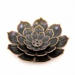 Porta incenso metallo Fiore di Loto Diametro 8,5 cm