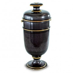 Brown Polished Cinerary Urn 20x46 cm