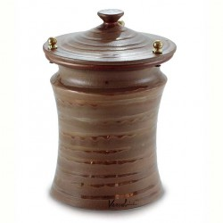 Cinerary Urn Lines on Brown Background 20x30 cm