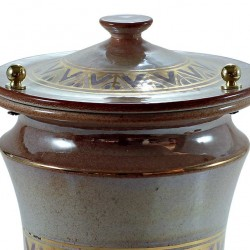 Iris Cinerary Urn with Gold and decoration 20x30 cm